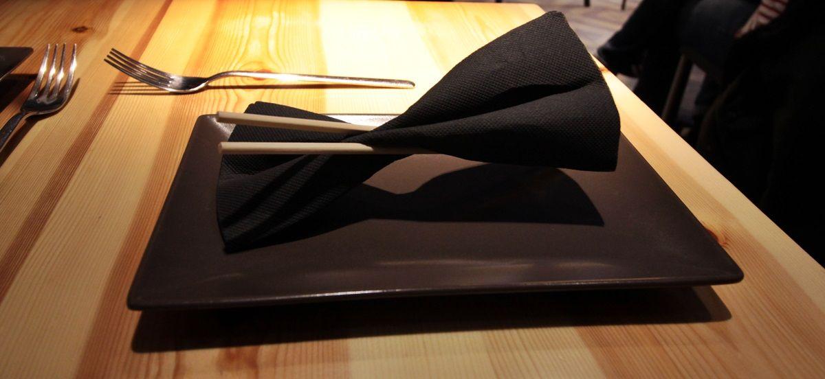 La pajarita, en forma de servilleta | FOTOS: RAQUEL ANGULO