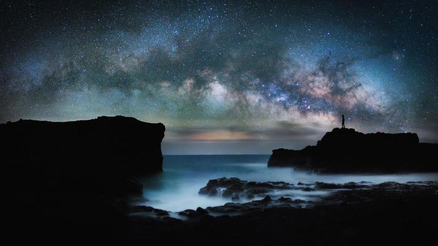 Tercer premio en el apartado de 'Paisaje astronómico desde La Palma'.Título: Shores of Fuencaliente. Autor: Nicholas Buer.