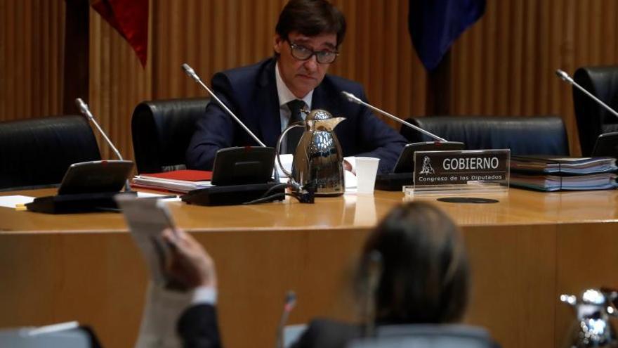 El ministro de Sanidad, Salvador Illa, durante su comparecencia en el Congreso.