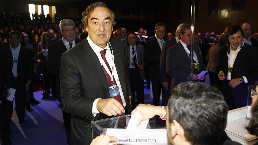 Rosell, reelegido presidente de la CEOE con el 52,2% de los votos. EUROPA PRESS