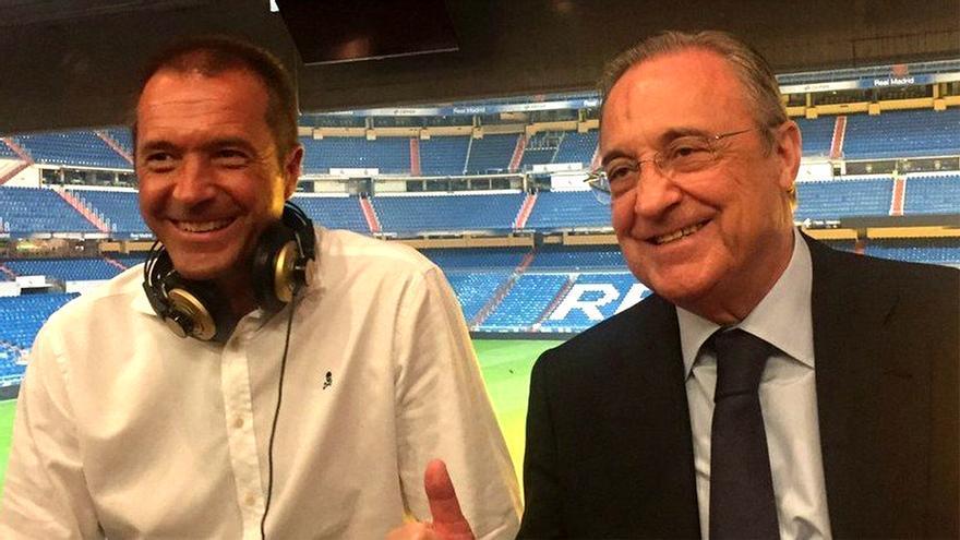 Manu Carreño y Florentino Pérez