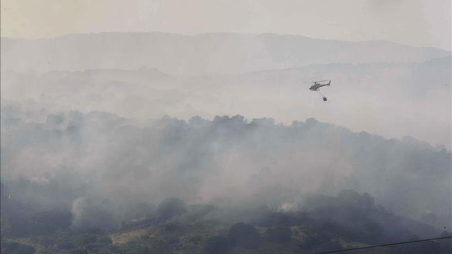 Se declara un incendio en el monte de Chozas de Canales (Toledo)