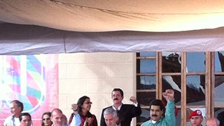Discurso del presidente Maduro durante uno de los actos.