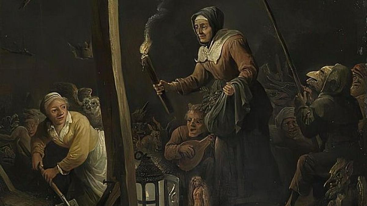 Cuadro del pintor David Teniers que escenifica un ritual de brujería