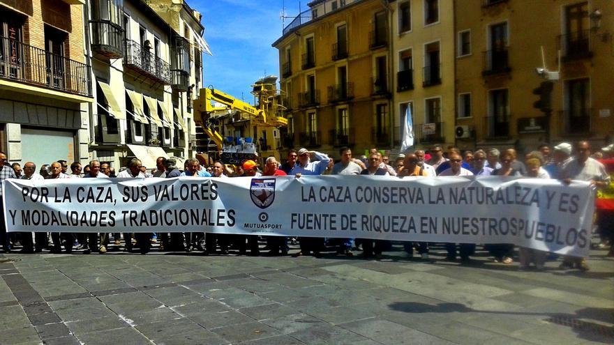 Manifestación de cazadores en Toledo