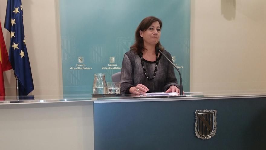Armengol asegura el Govern balear colaborará con la Fiscalía para investigar los contratos a dedo de MÉS