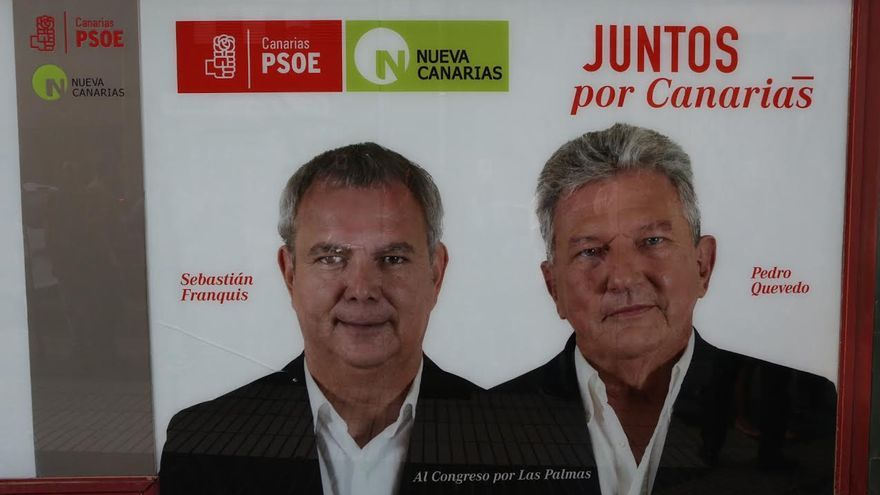 'Pefada de carteles' de PSOE-NC.