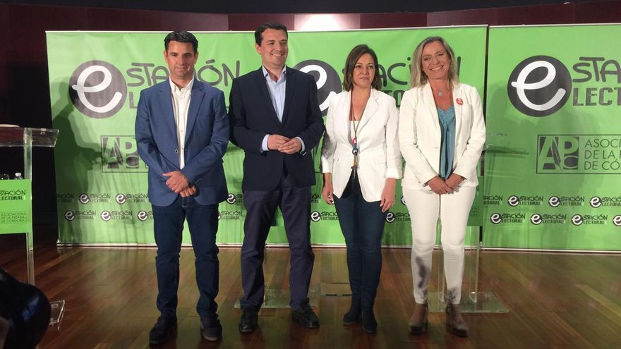 Los candidatos de IU, PP, PSOE y Ciudadanos en el debate electoral celebrado en campaña. Foto: Asprencor