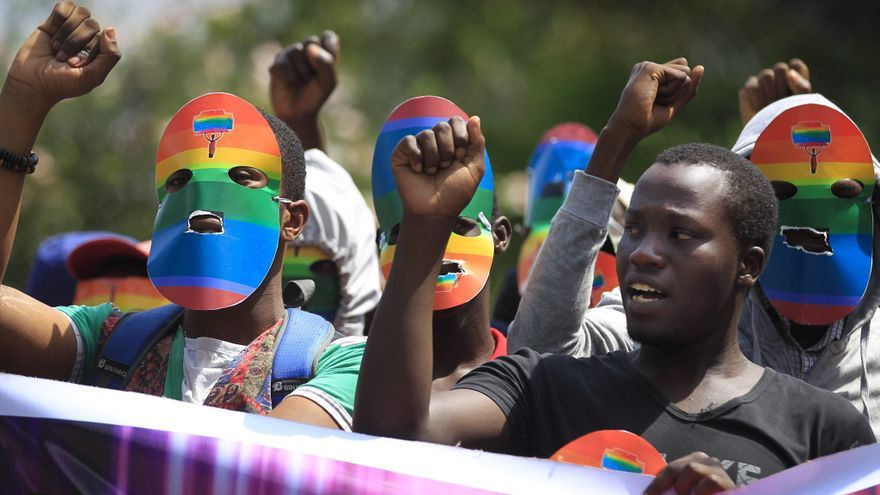 Imagen de archivo de una protesta en Kenia por la ley contra la comunidad LGTB de Uganda.