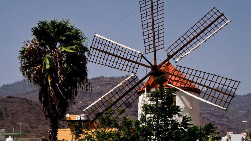 Molino Quemado de Mogán, uno de los pocos que quedan en Gran Canaria. VA