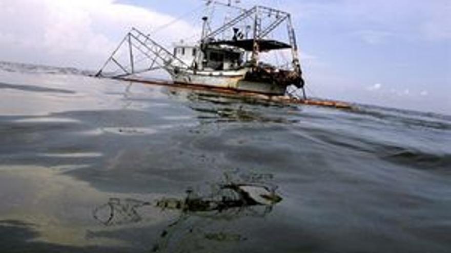 Vertido de crudo en el Golfo de México. (REUTERS)