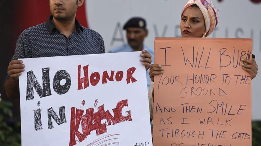 Imagen de una protesta en Islamabab (Pakistán) el pasado 19 de julio / EFE