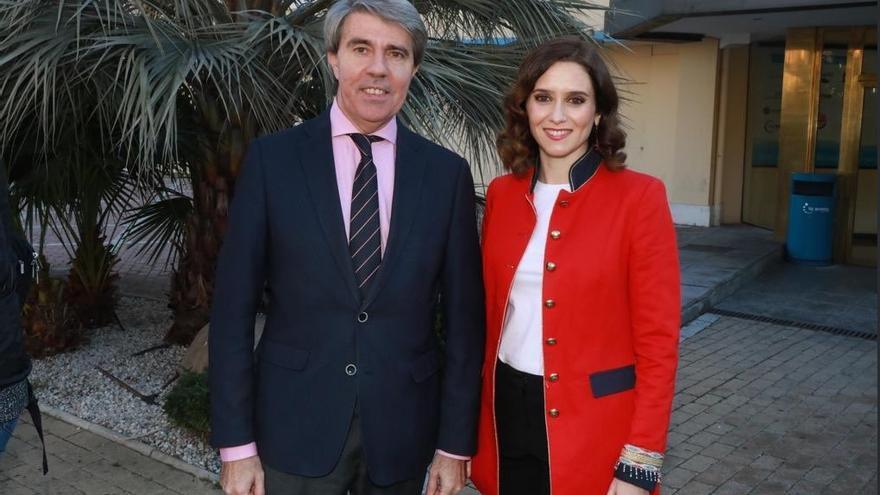 Ángel Garrido e Isabel Díaz-Ayuso en una foto compartida por el presidente el día de la presentación de los candidatos.