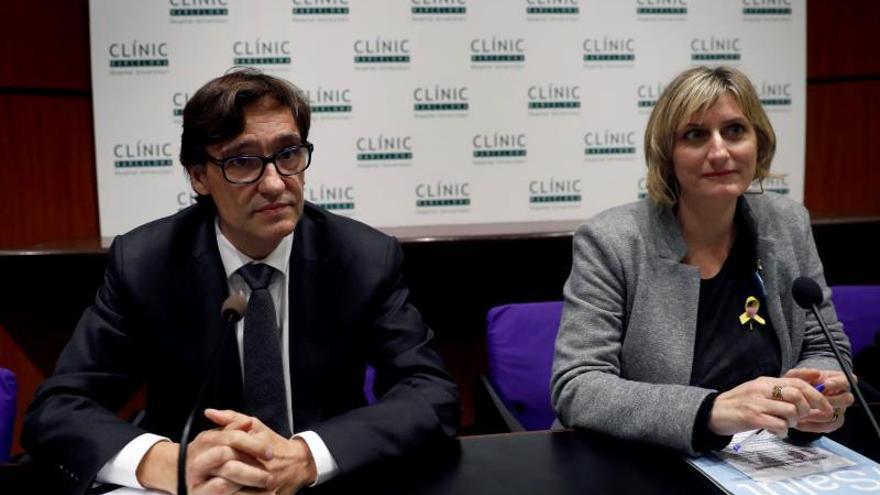 El ministro de Sanidad, Salvador Illa, junto a la consellera catalana Alba Vergés