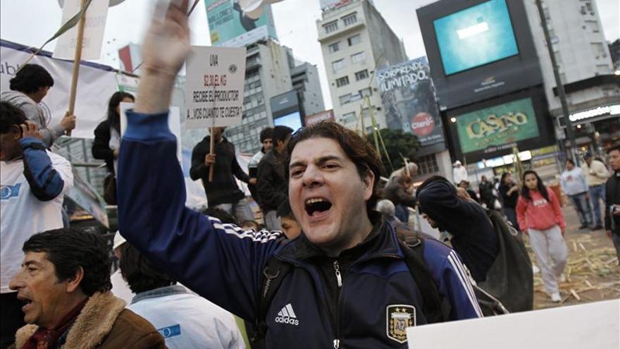"""Los agricultores argentinos protestan por la """"crisis del sector"""""""