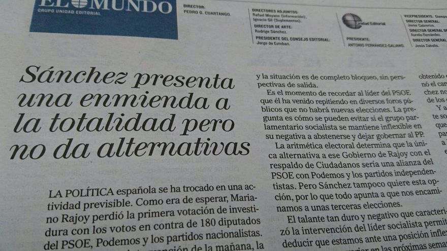 Editorial de El Mundo