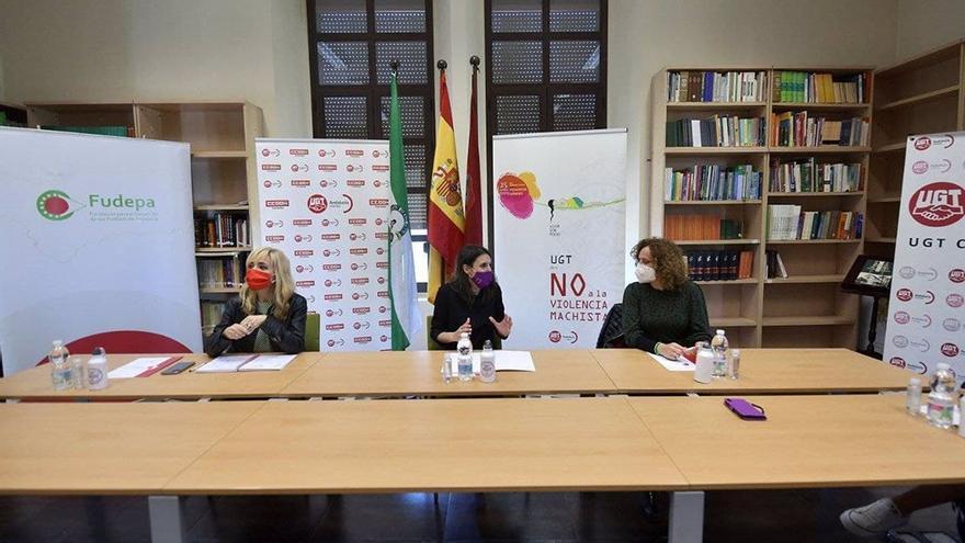 UGT y CCOO analizan con Irene Montero en Córdoba medidas para un avance real en la igualdad
