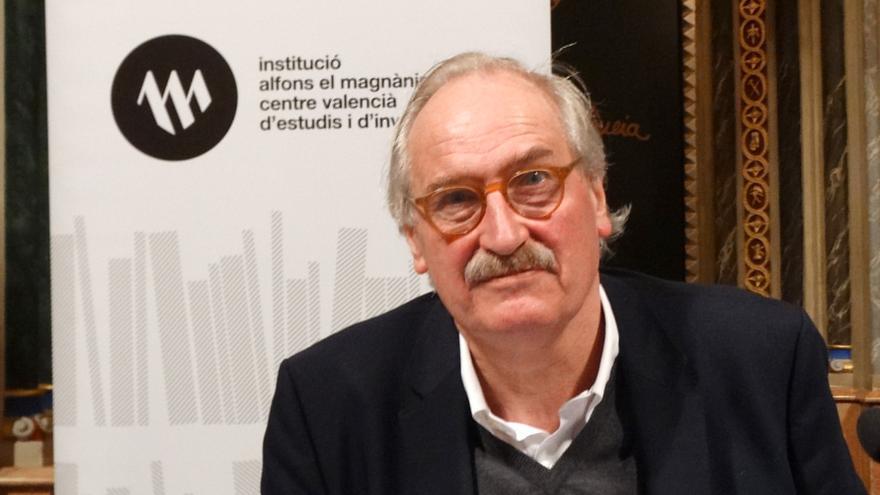 Axel Honneth en l'institut Alfons el Magnànim.