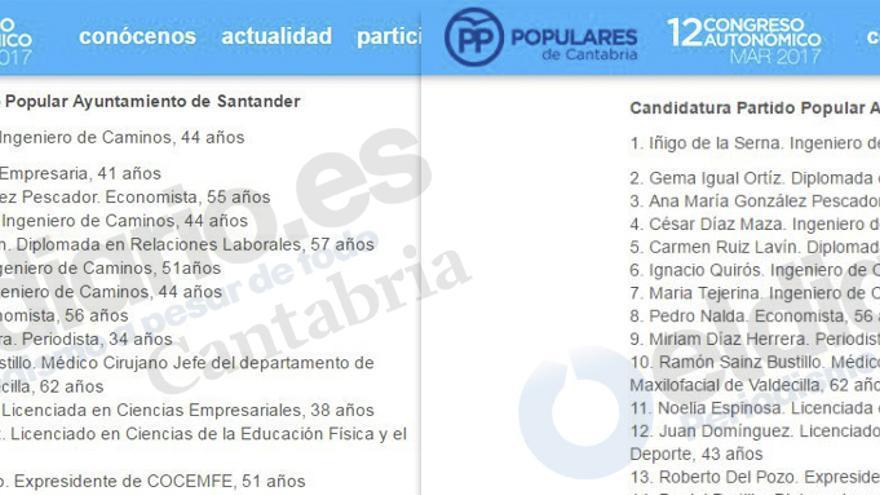 """Gema Igual pasa de ser """"diplomada en Magisterio"""" a """"empresaria"""" en la web del PP."""