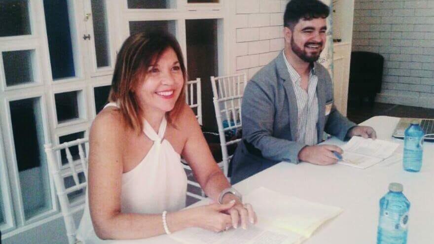 El sexólogo David Mellado junto a la diputada provincial de Mujer e Igualdad Mercedes Alonso