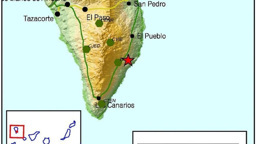 Imagen de la zona donde se ha registrado el terremoto.