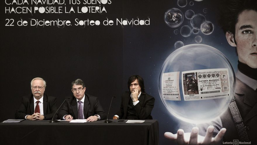 José Miguel Martínez en la presentación del Sorteo Extraordinario de Navidad de 2012 / EFE