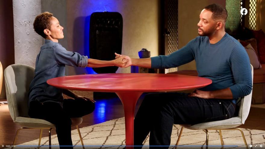 Jada Pinkett y Will Smith en 'Red Table Talk'