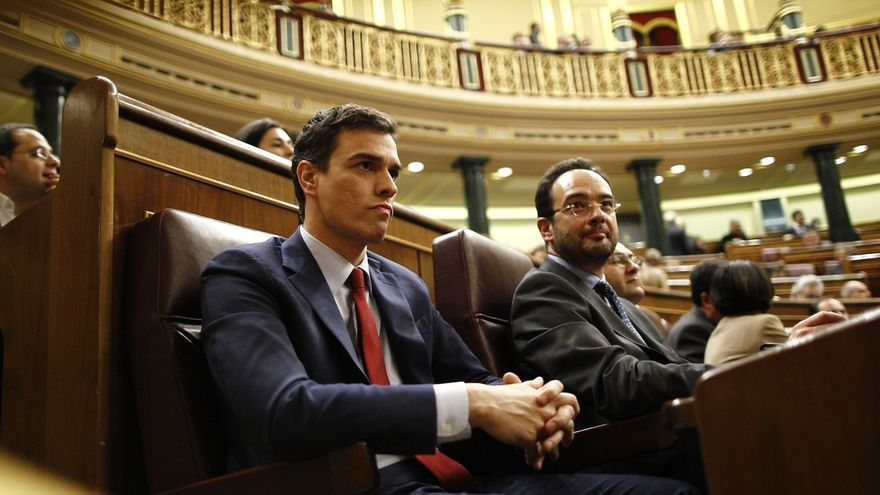 Pedro Sánchez y Antonio Hernando en una imagen de archivo