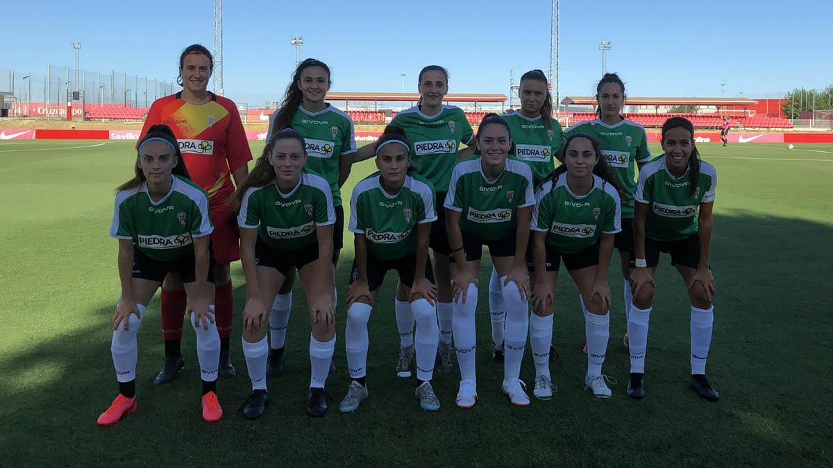 Once del Córdoba Femenino en el amistoso ante el Sevilla