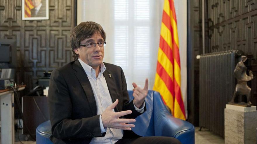 Carles Puigdemont en su etapa como alcalde de Girona. (EFE).