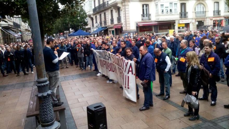 La plantilla de Condesa se manifestó el 15 de octubre en Vitoria.