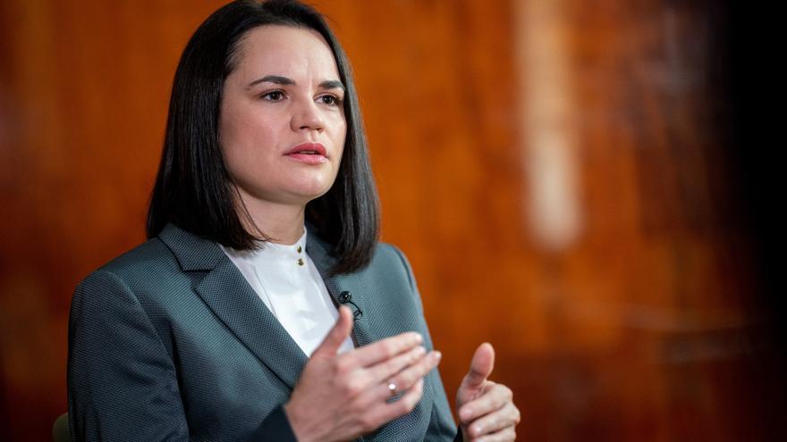 Svetlana Tijanóvskaya, líder de la oposición en Bielorrusia