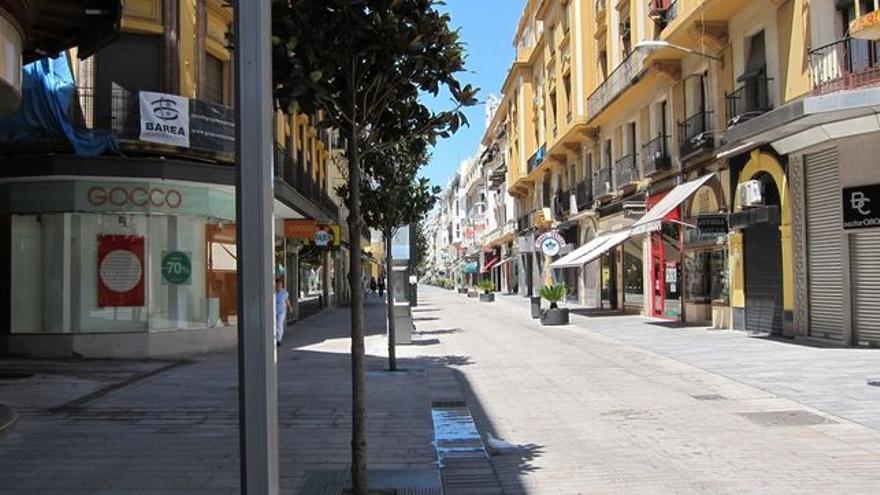 Calle Foro Romano, anteriormente Cruz Conde, nombre que PP y Cs quieren recuperar.