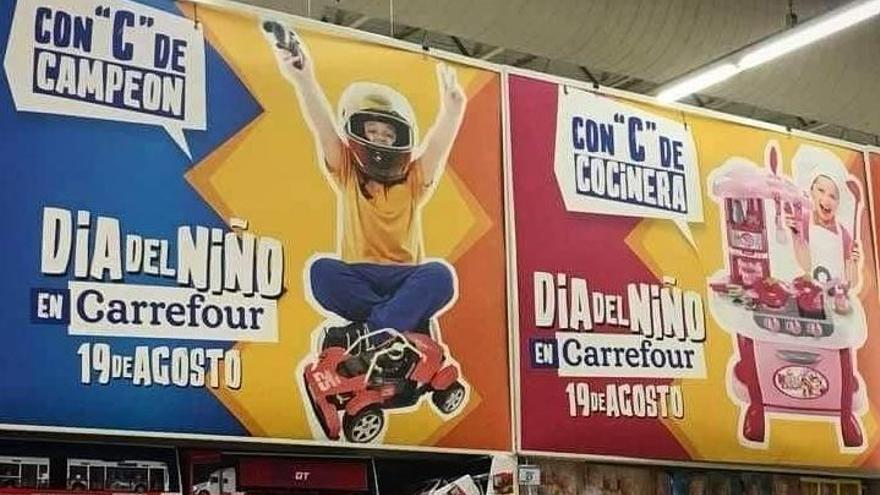 Carteles publicitarios de la campaña publicitaria machista de Carrefour en Argentina