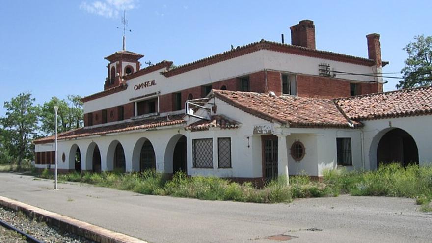 Estación de Caminreal (Teruel).