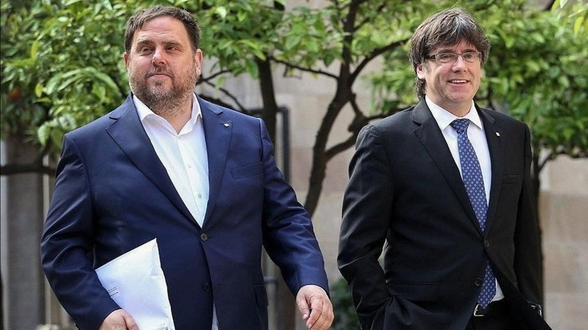 Oriol Junqueras y Carles Puigdemont, en una fotografía de archivo.