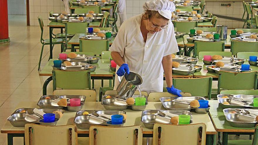 Comedor en un centro educativo, en una imagen de archivo