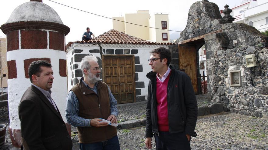 Las autoridades municipales visitaron las obras del Castillo de Santa Catalina.