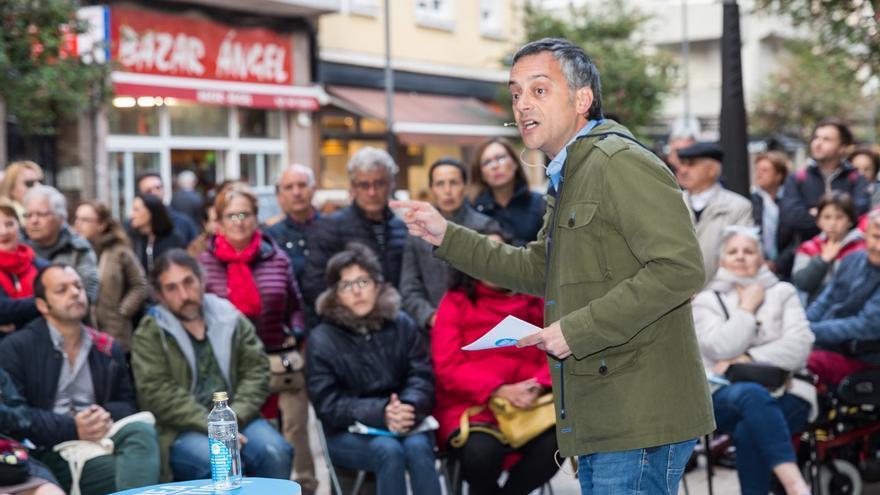Xulio Ferreiro, en un acto de campaña