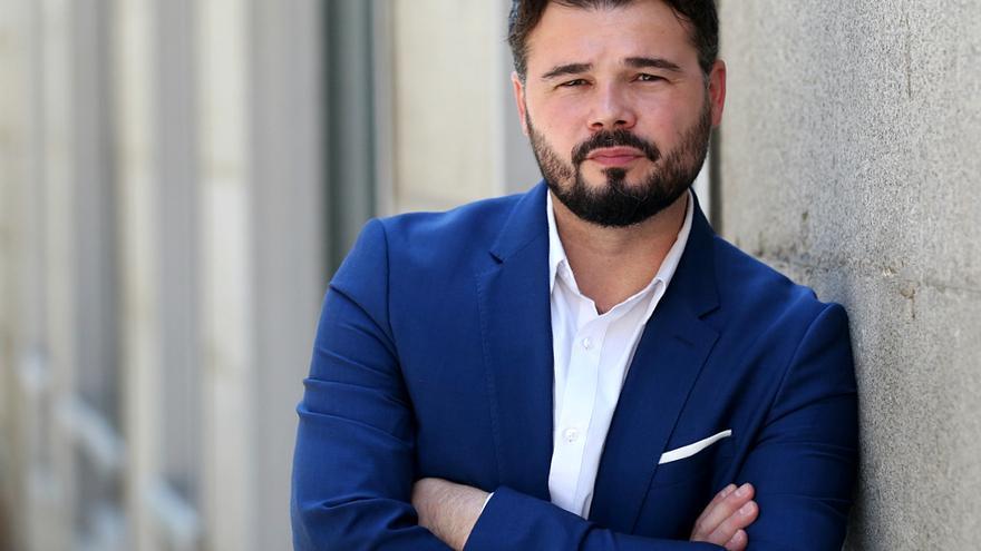 Gabriel Rufián, diputado de ERC, en el Congreso.