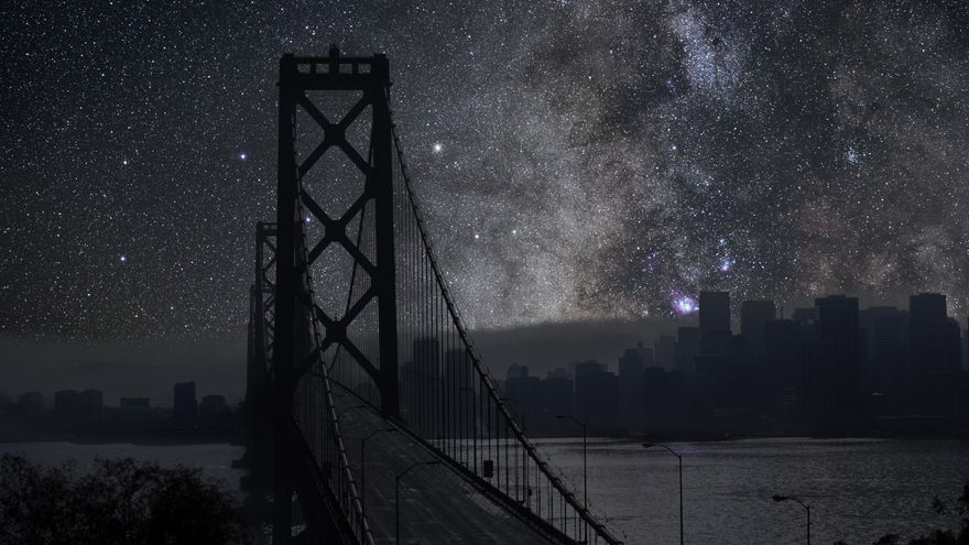 Thierry Cohen. Serie Darkened Cities. San Francisco