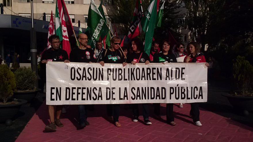 Manifestación de trabajadores de Osakidetza en Vitoria / eldiarionorte.es