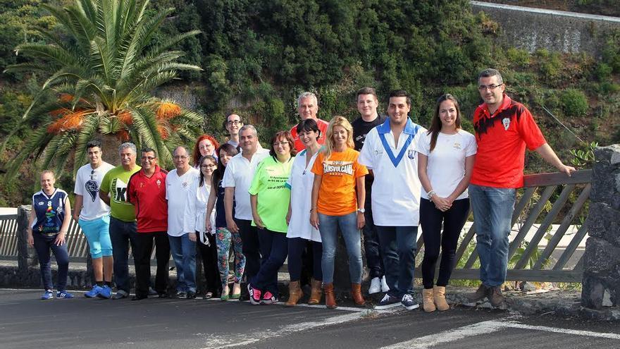 En la imagen, miembros de la lista de CC al Ayuntamiento de Santa Cruz de La Palma.