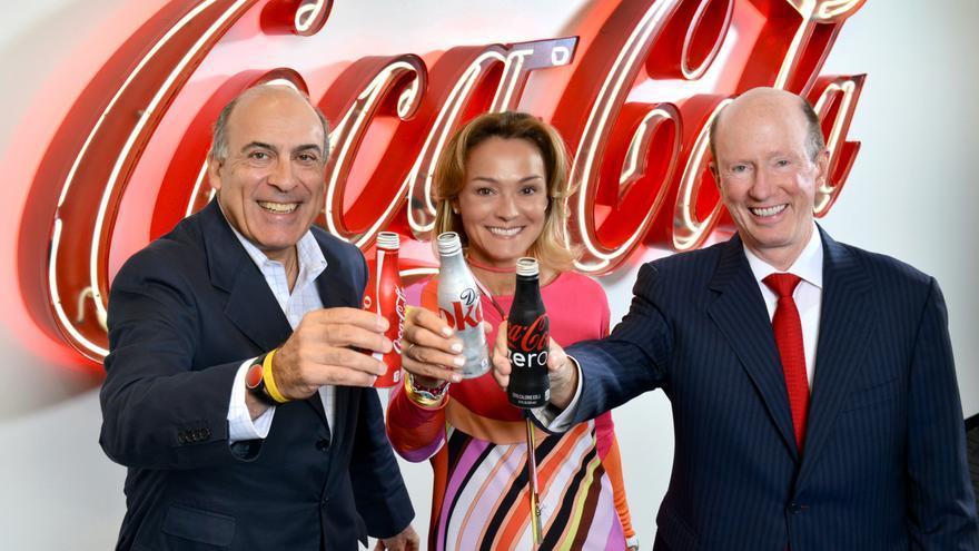 Sol Daurella (c), presidenta de Coca-Cola European Partners.