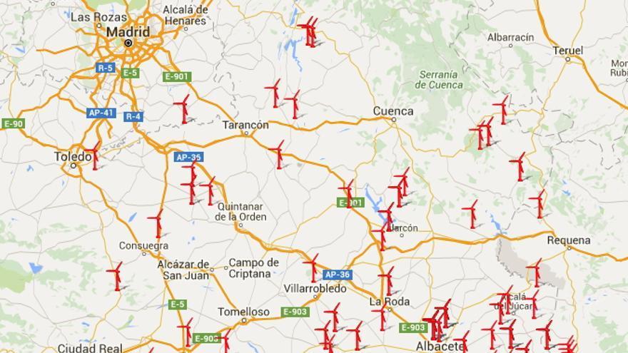 Instalaciones de energía eólica en Castilla-La Mancha