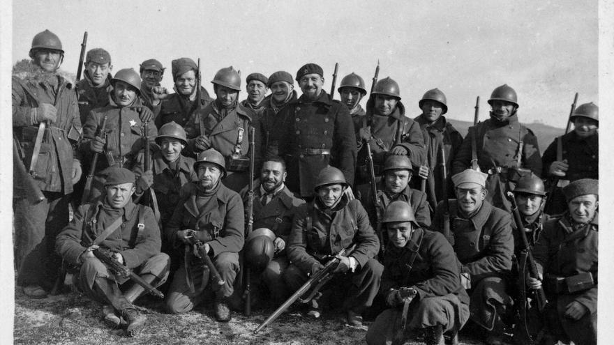 Brigadistas Internacionales durante la Batalla de Guadalajara. Marzo-abril de 1937