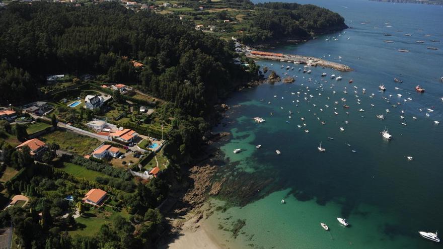 Vista de Veigue, en Sada, a 20 minutos del centro de A Coruña