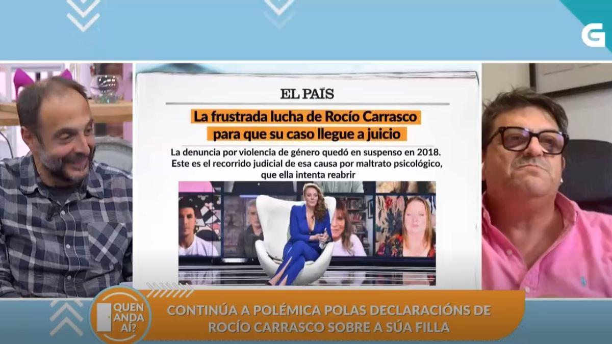 Imagen del programa en el que se debatió sobre el caso de Rocío Carrasco