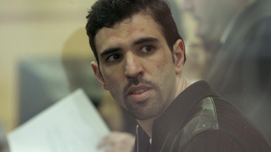 Jamal Zougam, condenado como uno de los presuntos autores materiales de los atentados del 11-M, durante el juicio