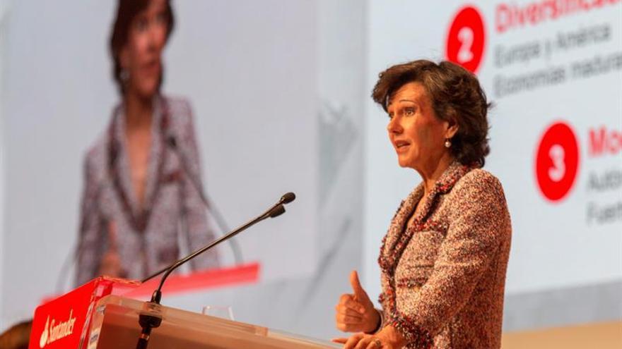 El Banco Santander ganó 1.867 millones de euros hasta marzo, un 14 % más